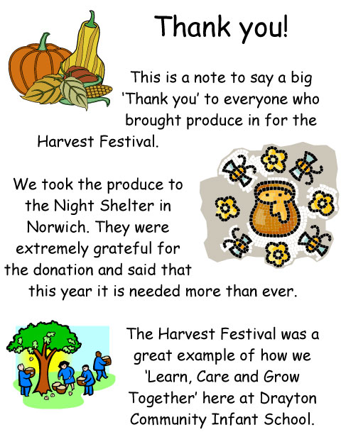 Harvest Festival Thank You