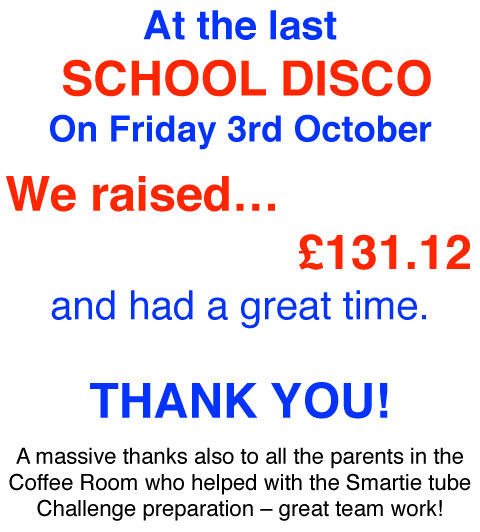 School Disco Thanks