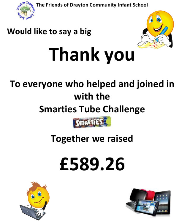 Smarties Challenge Thank you Note 2014