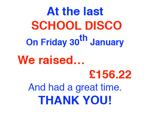 School Disco Thanks, We Raised ... Poster 2013-14 (1) copy