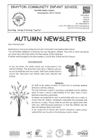 Autumn Newsletter