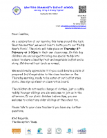 Reception- Teddy Bear's Picnic Letter