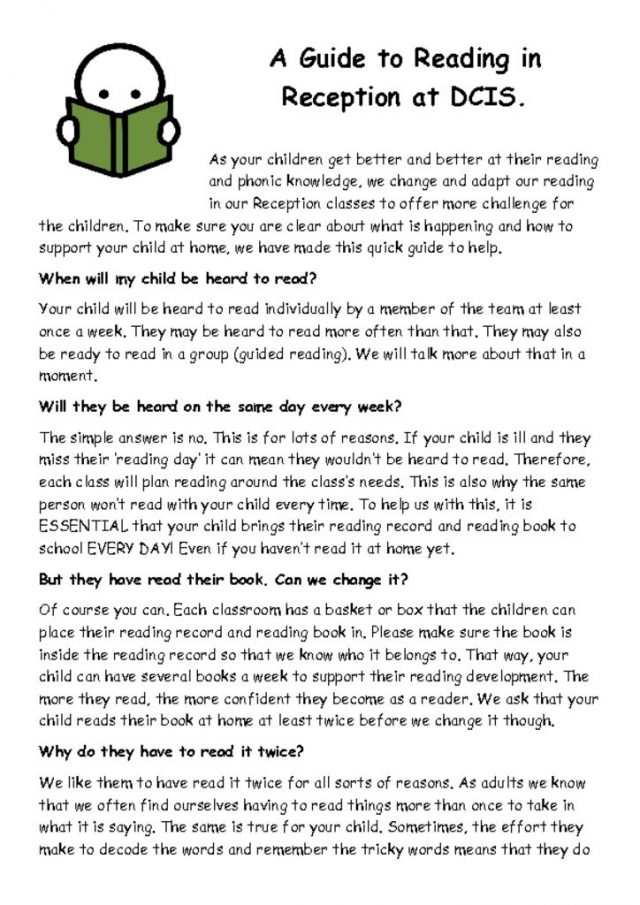 thumbnail of A Guide to Reading in Reception at DCIS